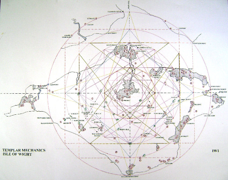 Earth Energy Ley Lines Map